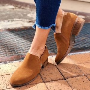Toms Shaye Camel Bootie Suede Leather 7.5